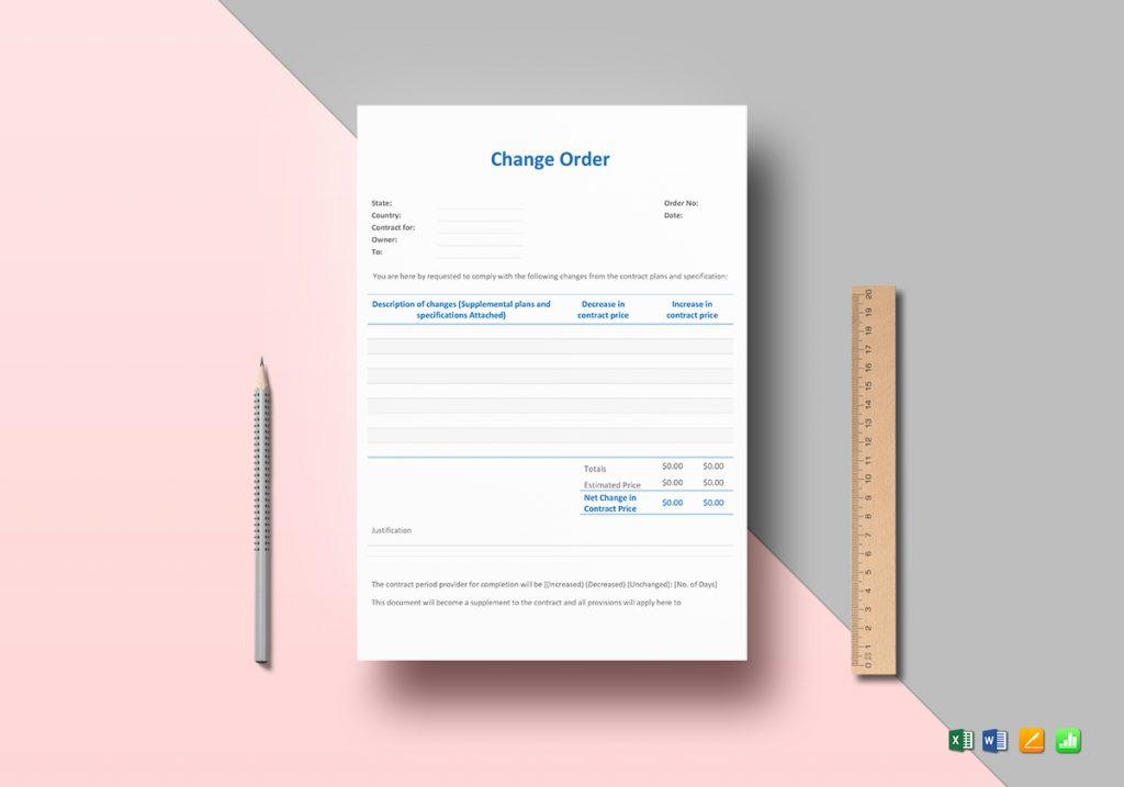 Change Work Order