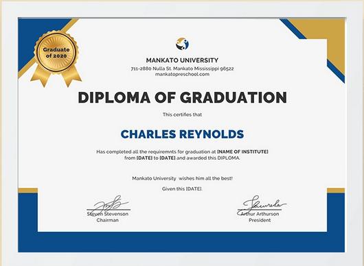 College diploma graduation
