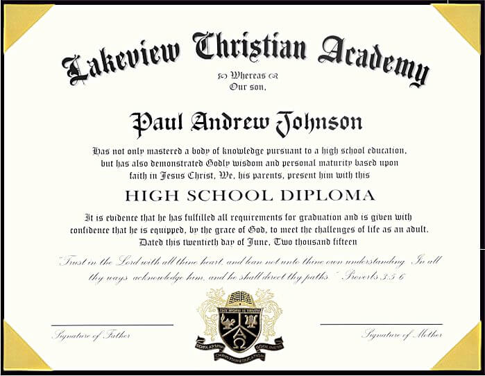 elaborate high school diploma