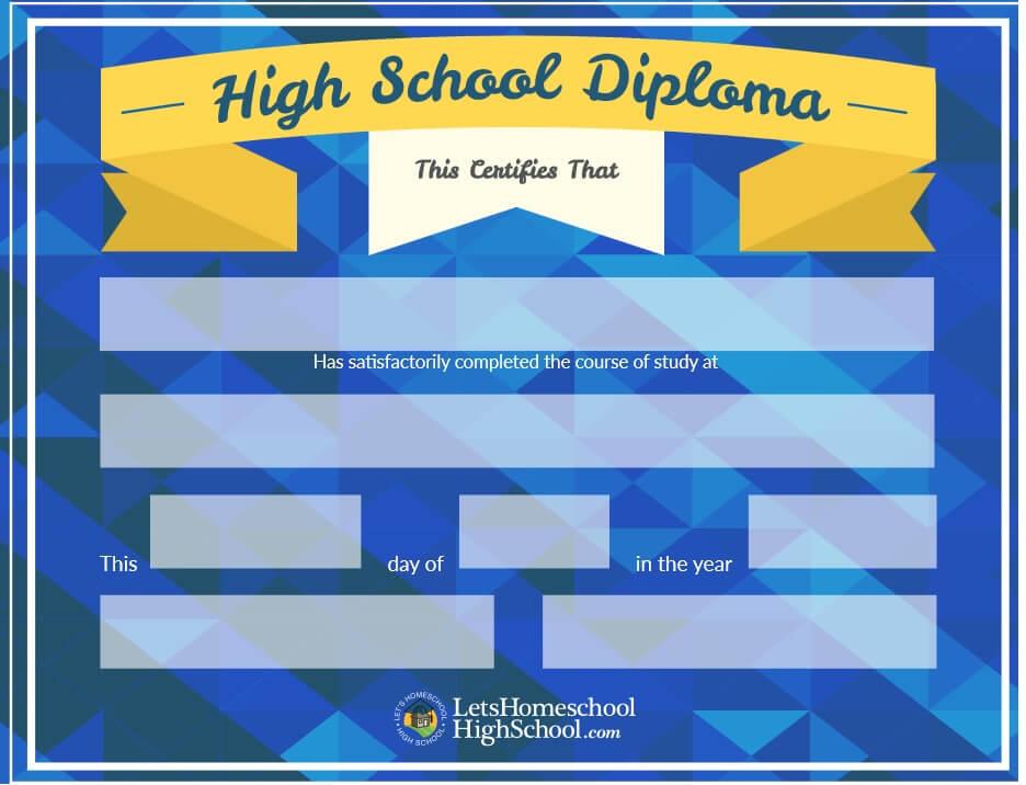 high school diploma pdf