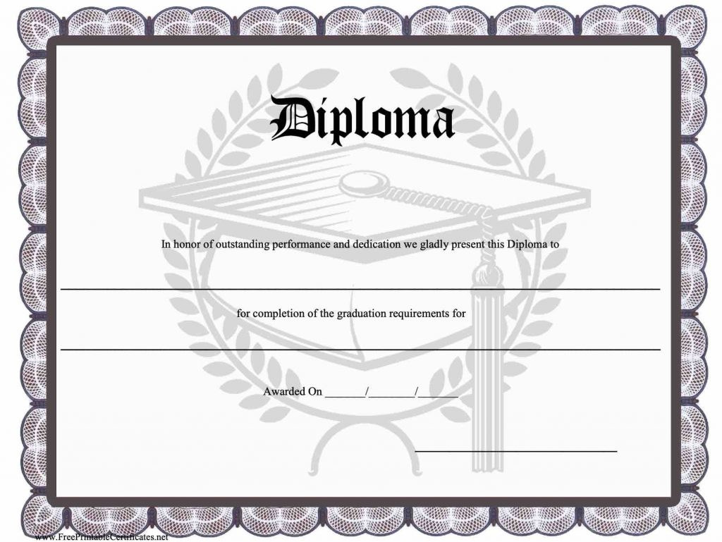 37  high school diploma template
