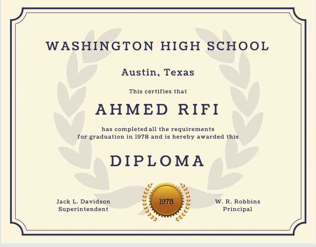 custom diploma template with seal